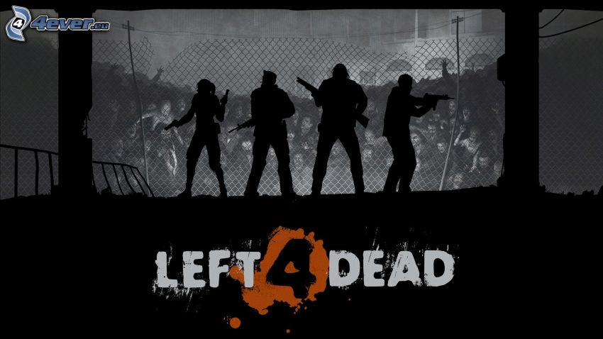 Left 4 Dead, silhouettes of people
