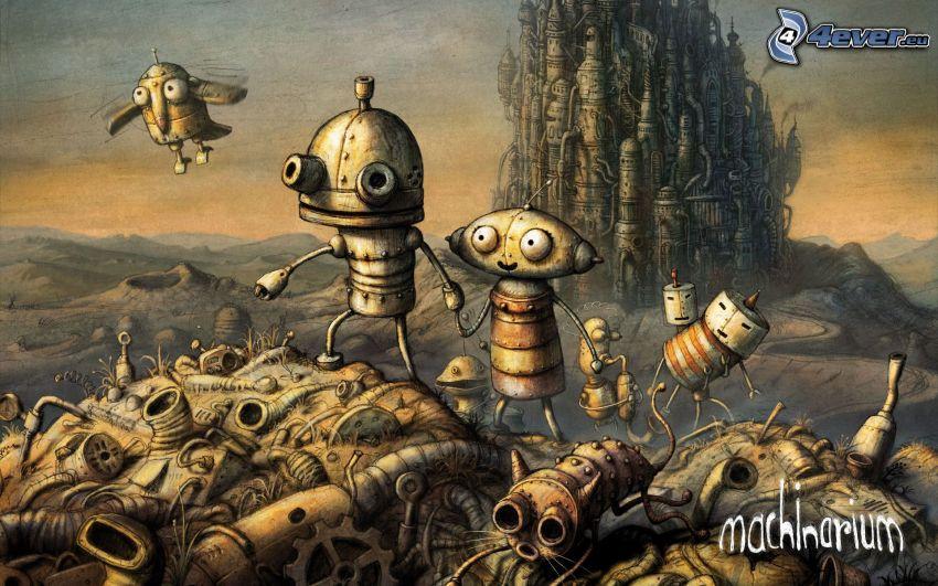 machinarium, robots