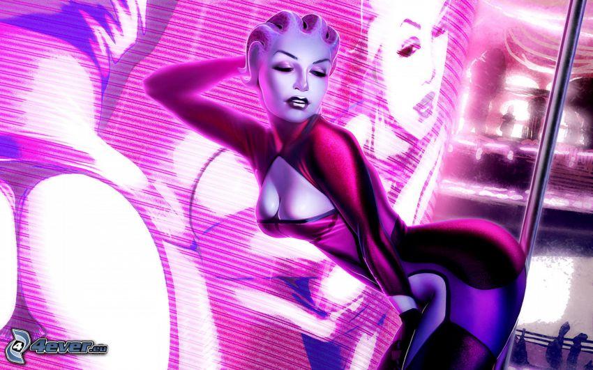 Mass Effect 2, cartoon woman