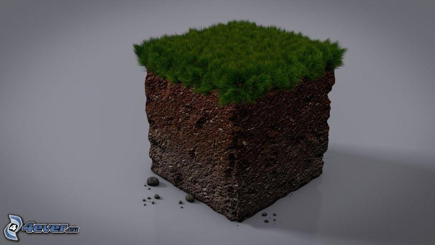 Minecraft, cube