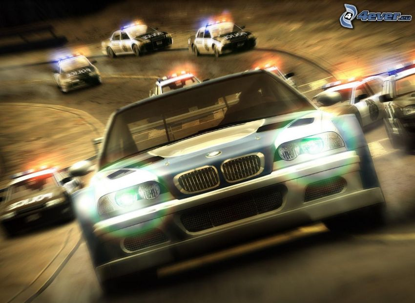 Need For Speed, BMW, police car