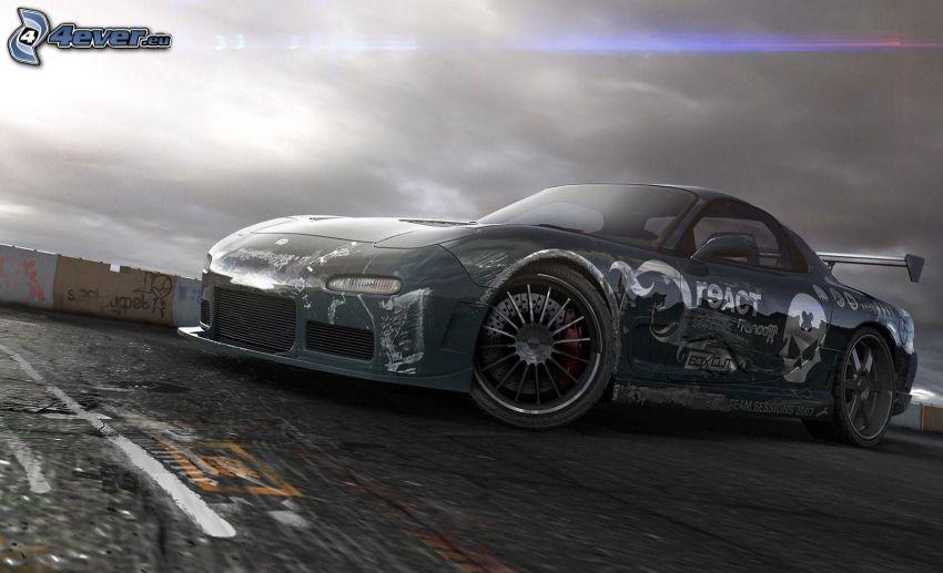 Need For Speed, sports car, cartoon car