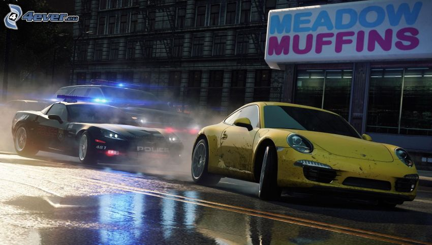 Need For Speed - Most Wanted, Volkswagen Beetle, police car