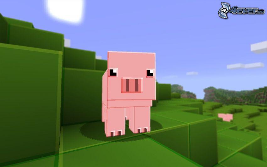 pig, Minecraft