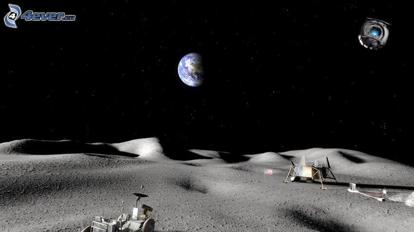 Portal, Earth, moon, Lunar Roving Vehicle LRV