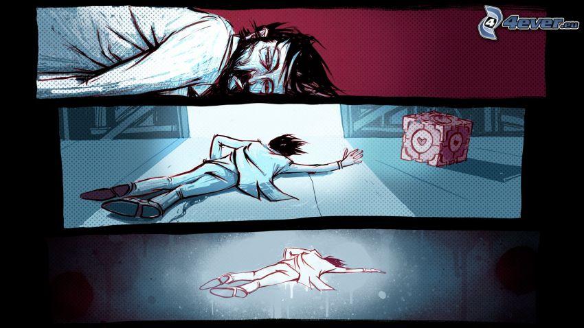 Portal 2, corpse