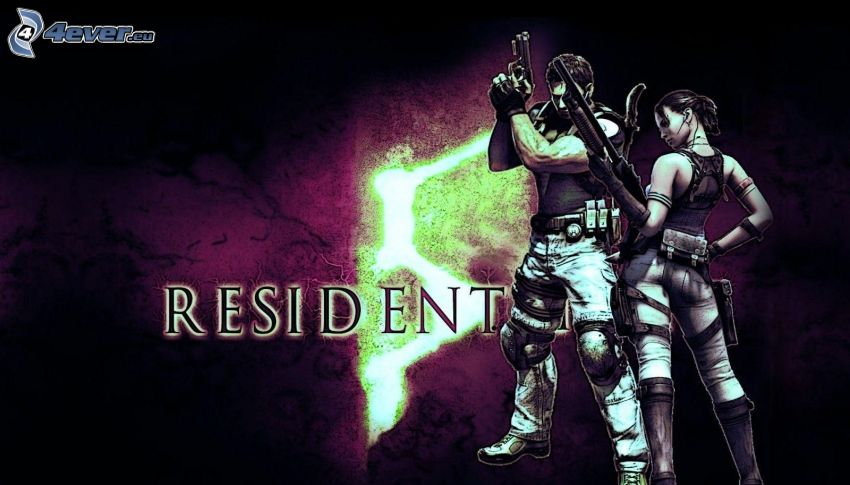 Resident Evil, man and woman