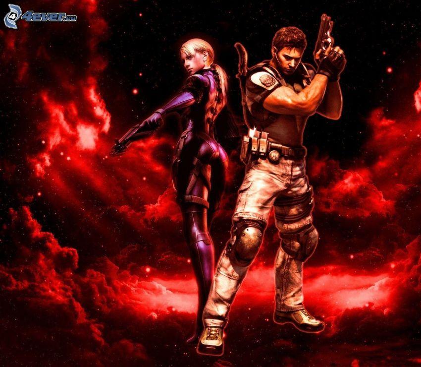 Resident Evil, red sky