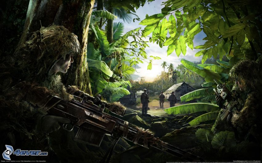 Sniper: Ghost Warrior 2, soldiers, jungle