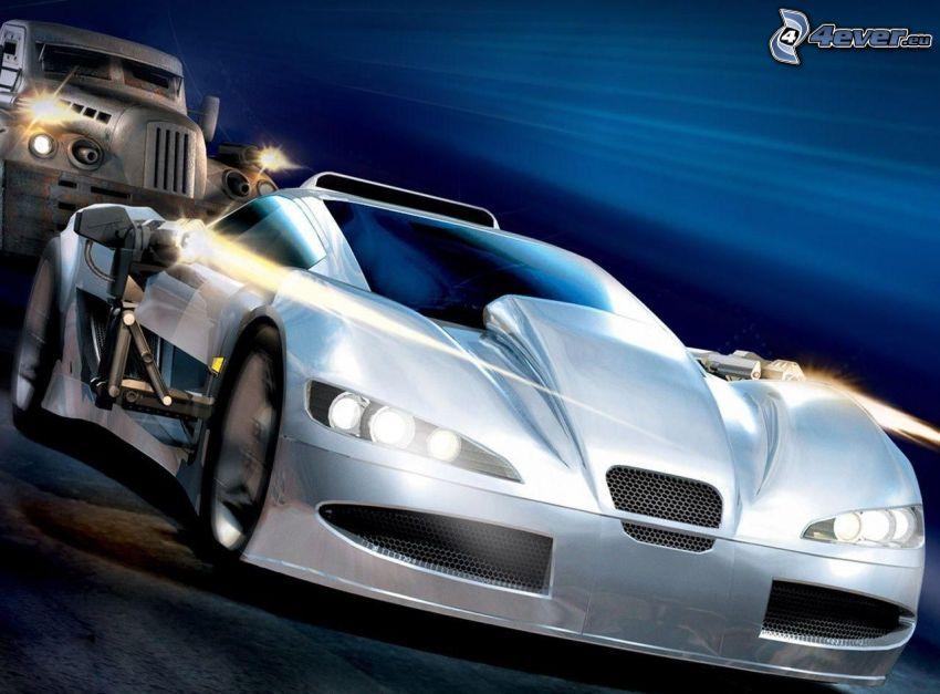Spy Hunter, sports car