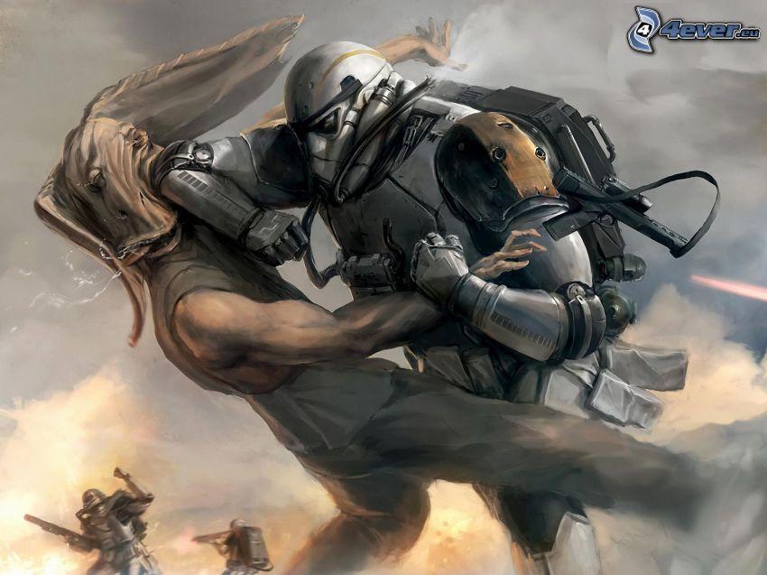 Star Wars, battle, robot