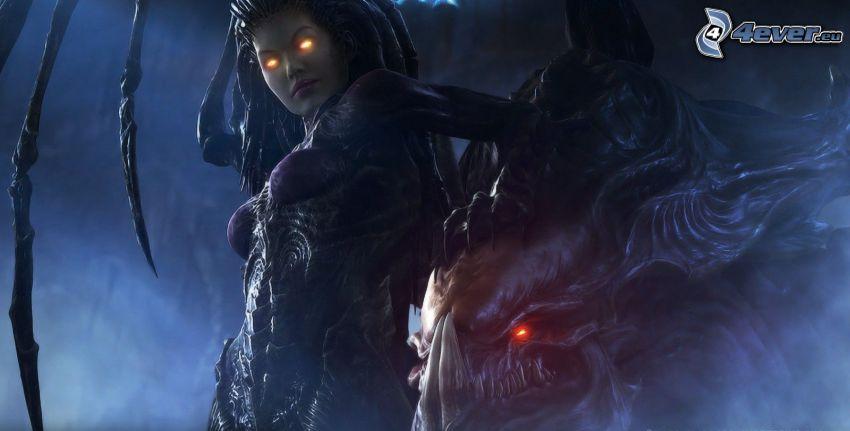 StarCraft 2, anime warrior