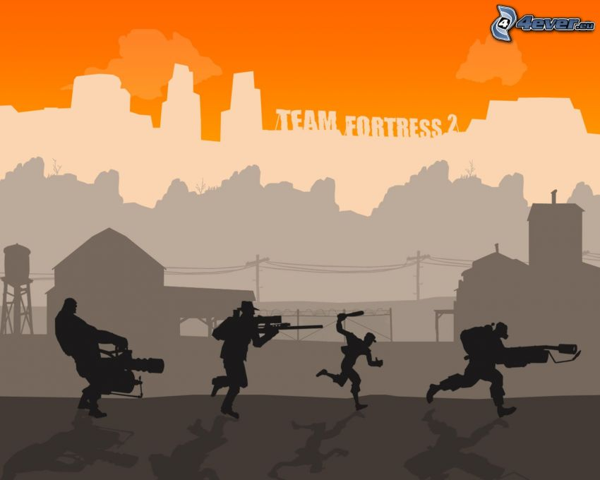 Team Fortress 2, silhouettes of people