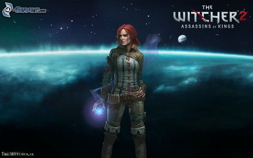 The Witcher 2: Assassins of Kings, anime woman, planets