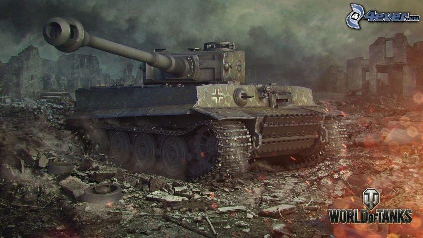 Tiger, World of Tanks, tank