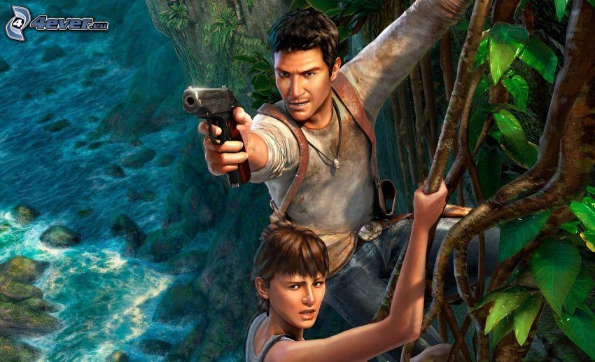 Uncharted 3, adventure, jungle