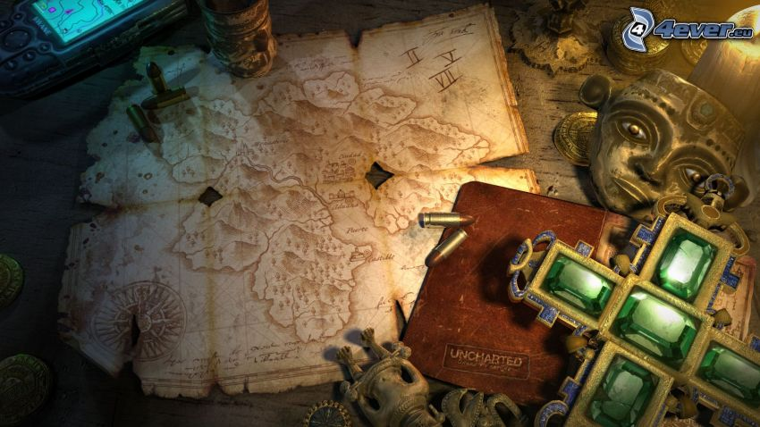 Uncharted: Drakes Fortune, historical map