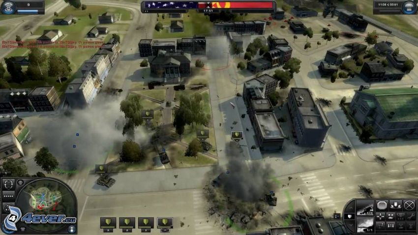 World in Conflict, shooting, cartoon city