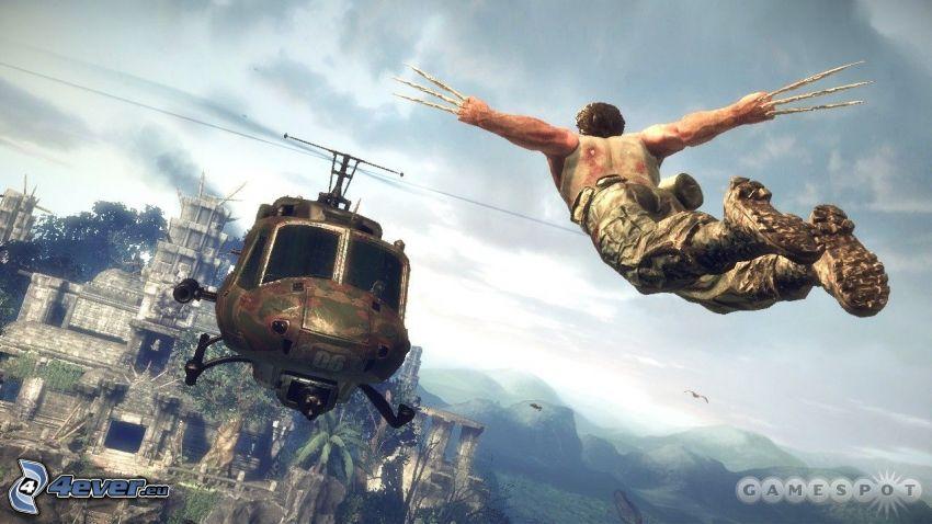 X-Men Origins: Wolverine, military helicopter
