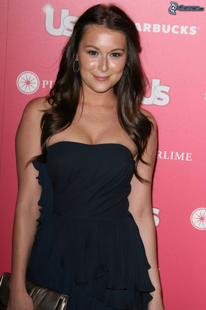 Alexa Vega, black dress