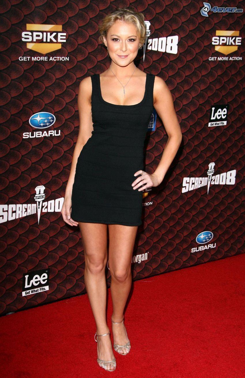 Alexa Vega, black dress