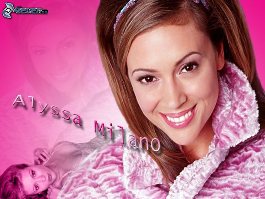 Alyssa Milano, actress, Phoebe, Charmed, brown-haired woman, headband