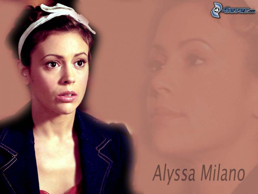 Alyssa Milano, actress, Phoebe, witches, Charmed, headband, brown-haired woman
