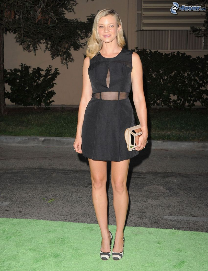 Amy Smart, black dress