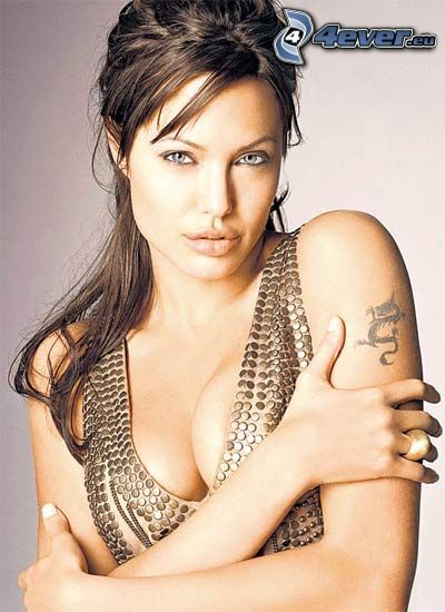 Angelina Jolie, seductive look