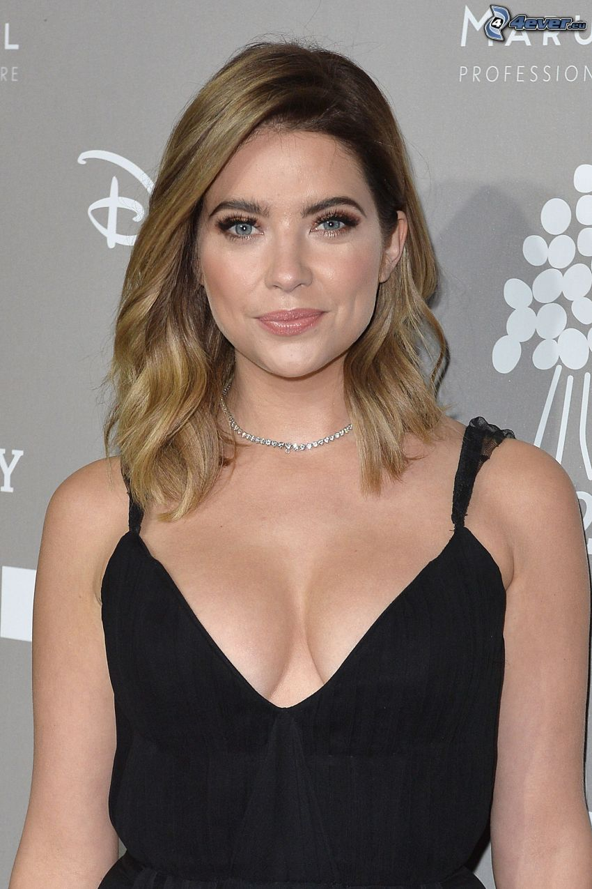 Ashley Benson, black dress