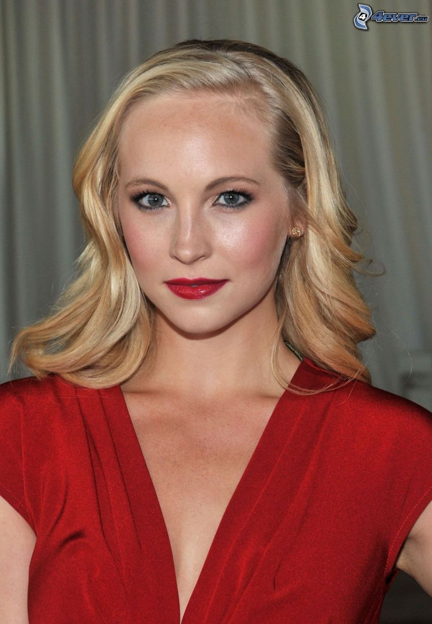 Candice Accola, red dress