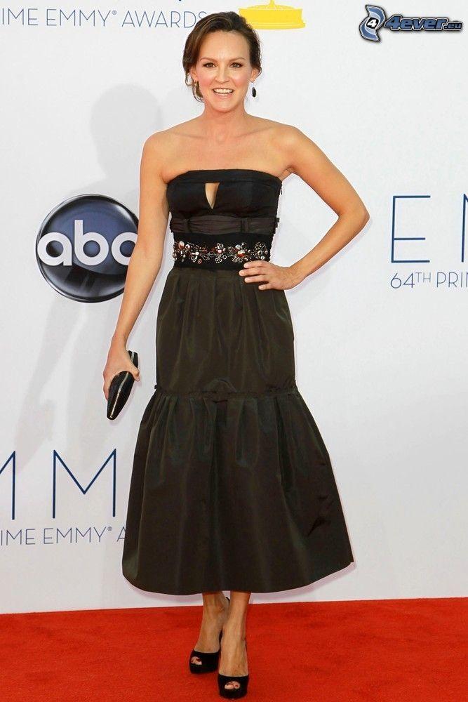 Carla Gallo, black dress