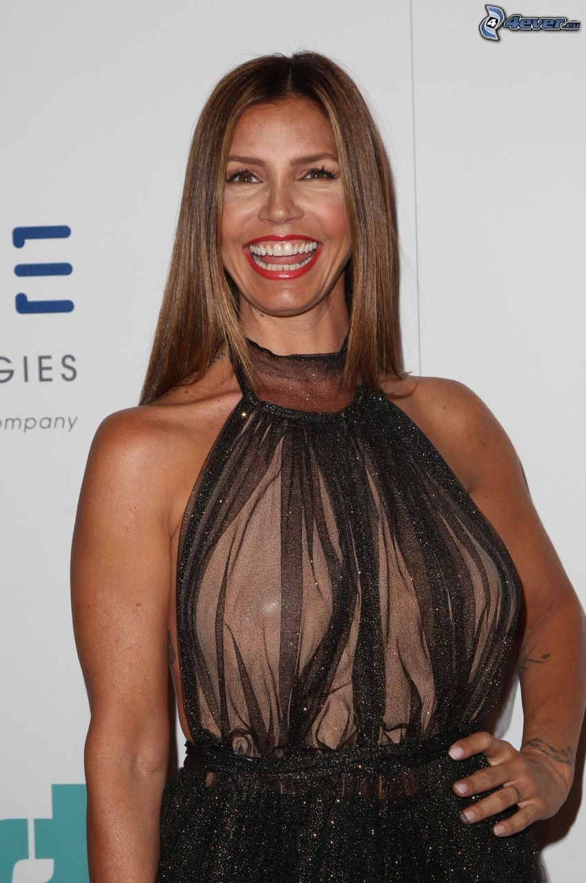 Charisma Carpenter, laughter, red lips