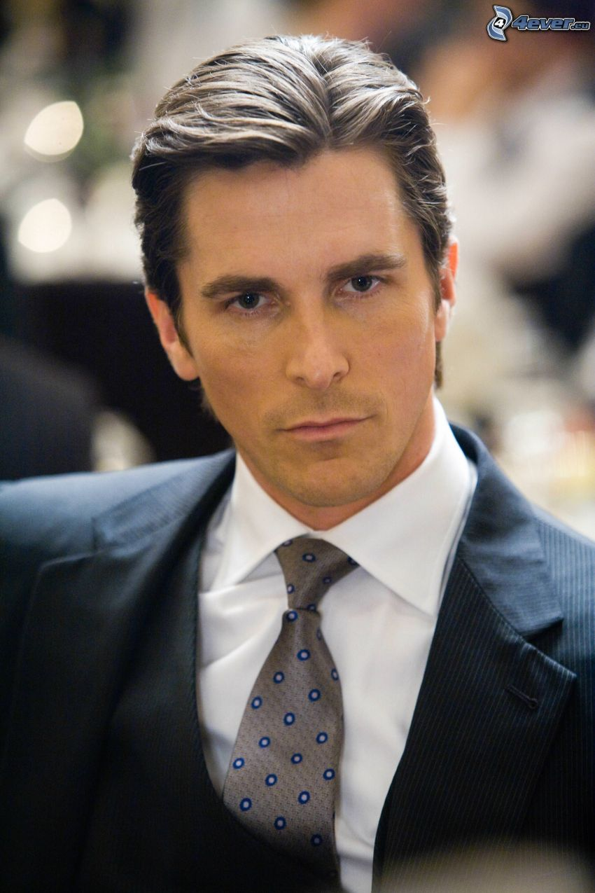 Christian Bale, man in suit
