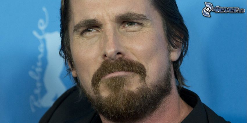 Christian Bale, whiskers