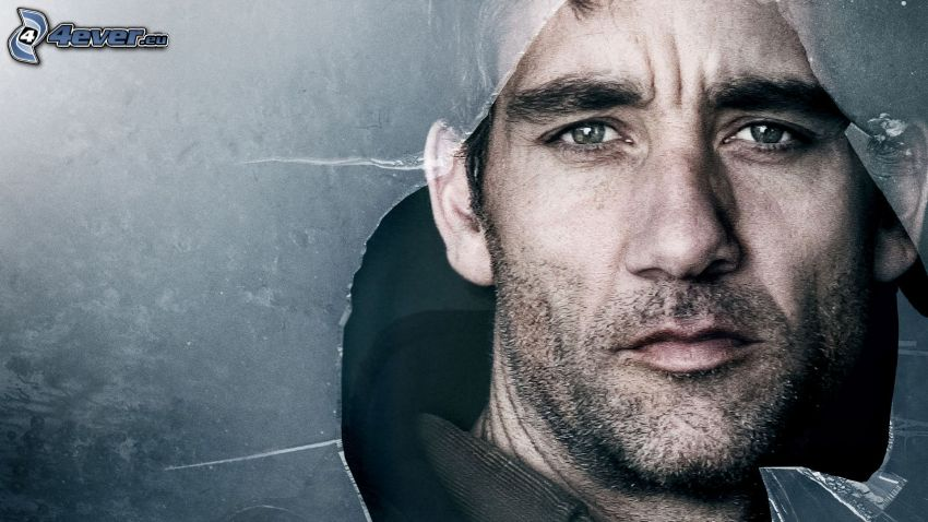 Clive Owen, broken glass