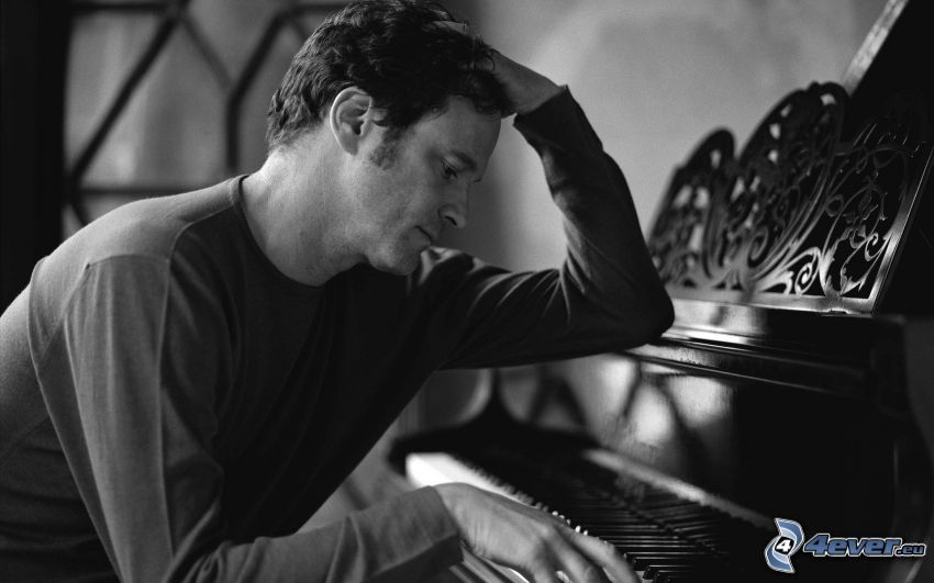 Colin Firth, play the piano