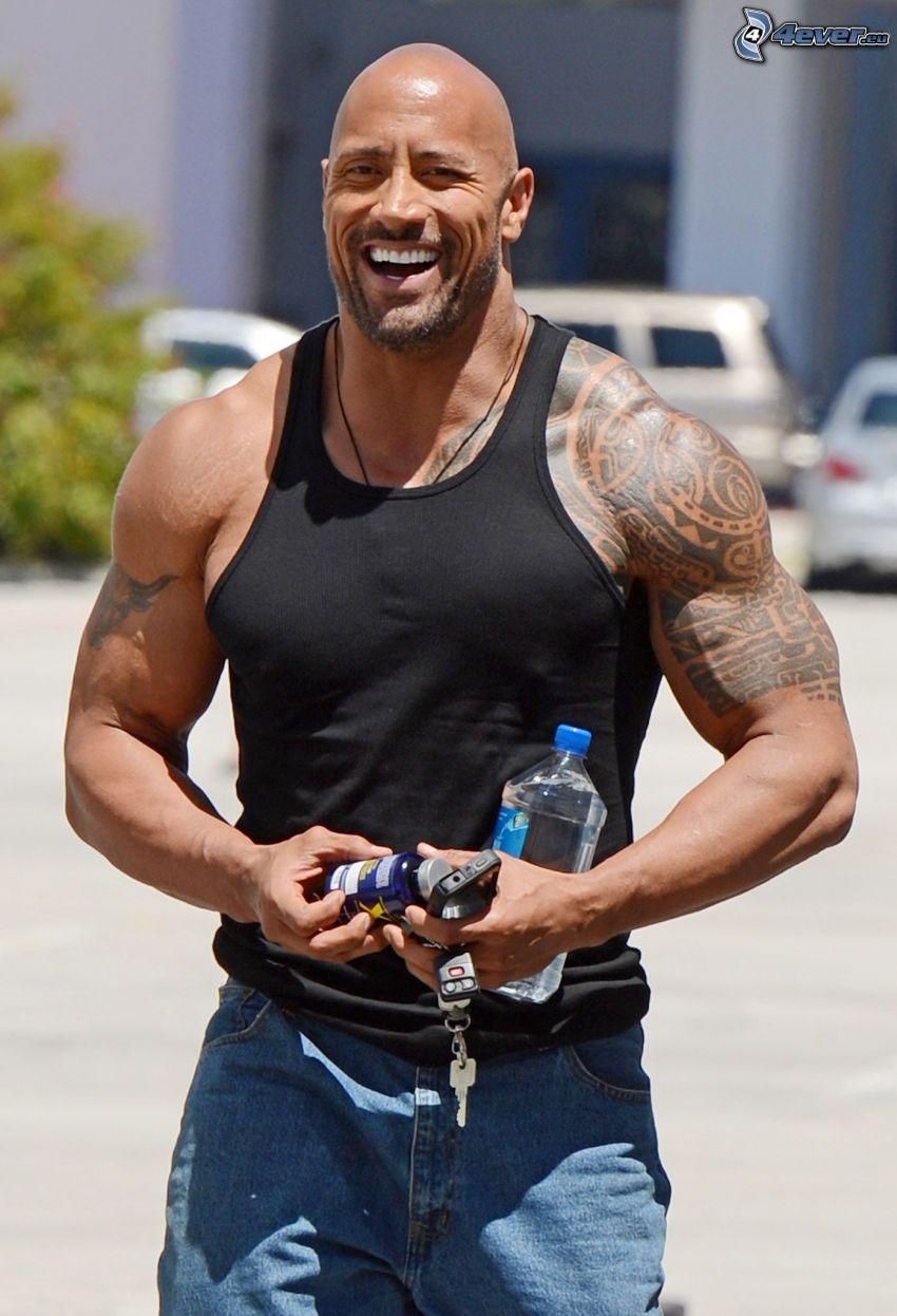 Dwayne Johnson, laughter