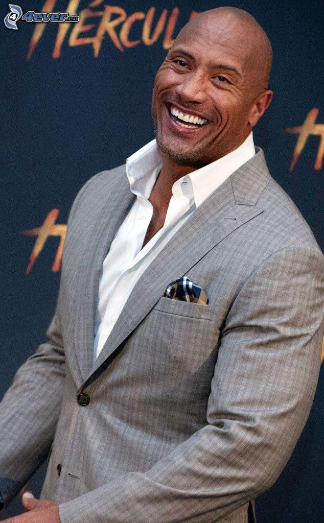 Dwayne Johnson, man in suit