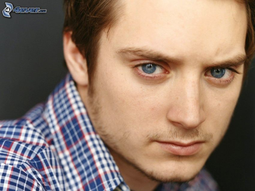 Elijah Wood, blue eyes