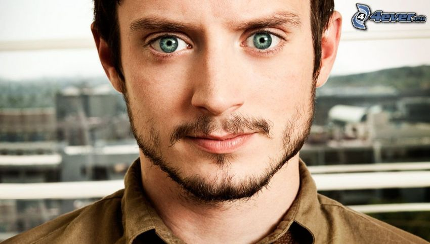 Elijah Wood, green eyes
