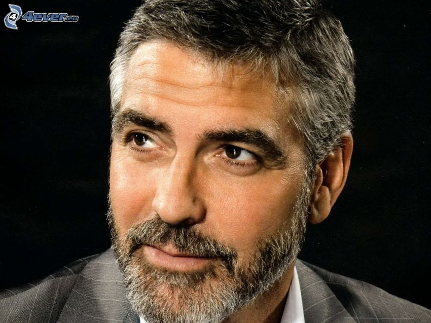 George Clooney, whiskers