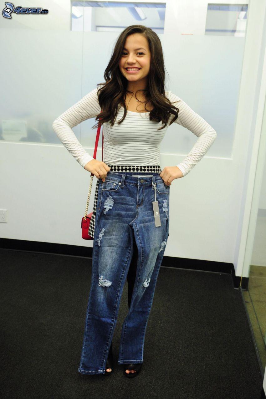 Isabela Moner, jeans, smile
