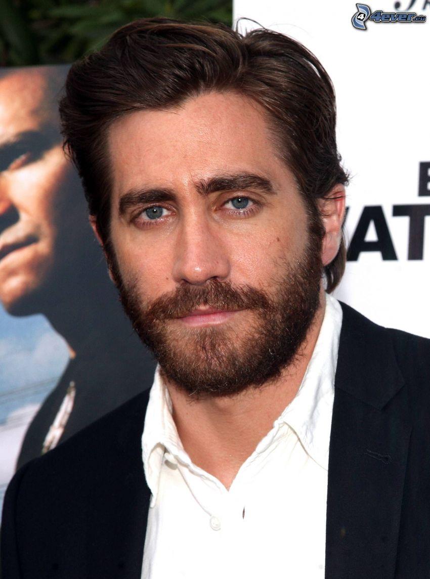Jake Gyllenhaal, whiskers, man in suit