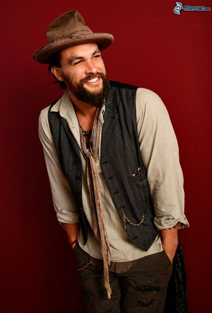 Jason Momoa, a man in hat