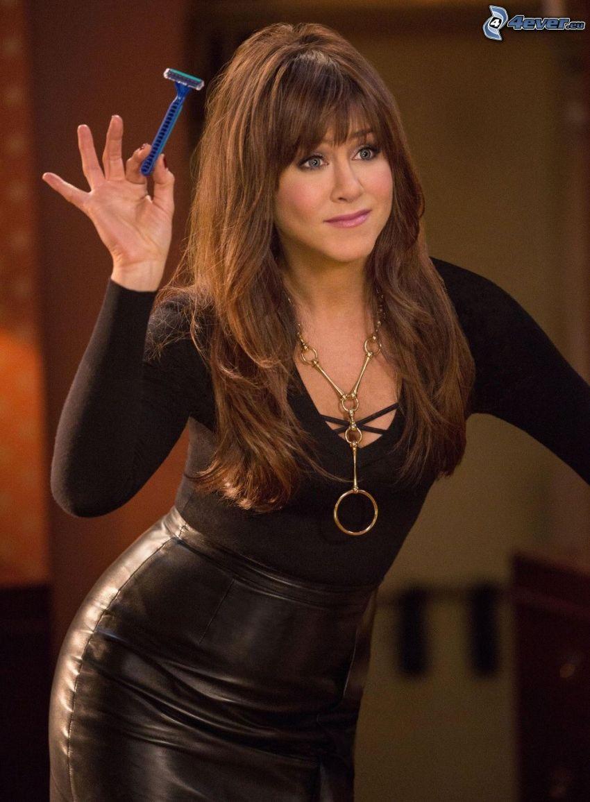 Jennifer Aniston, razor