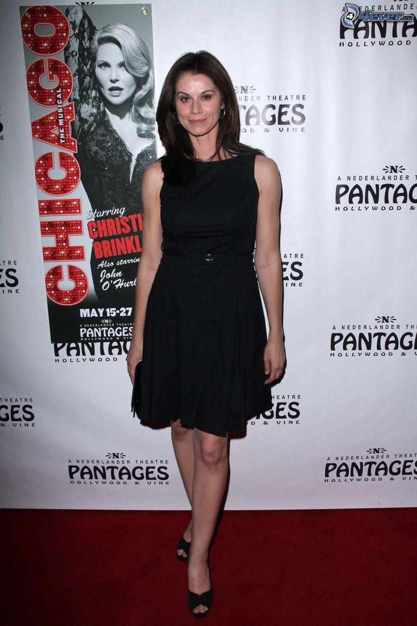 Jennifer Taylor, black minidress