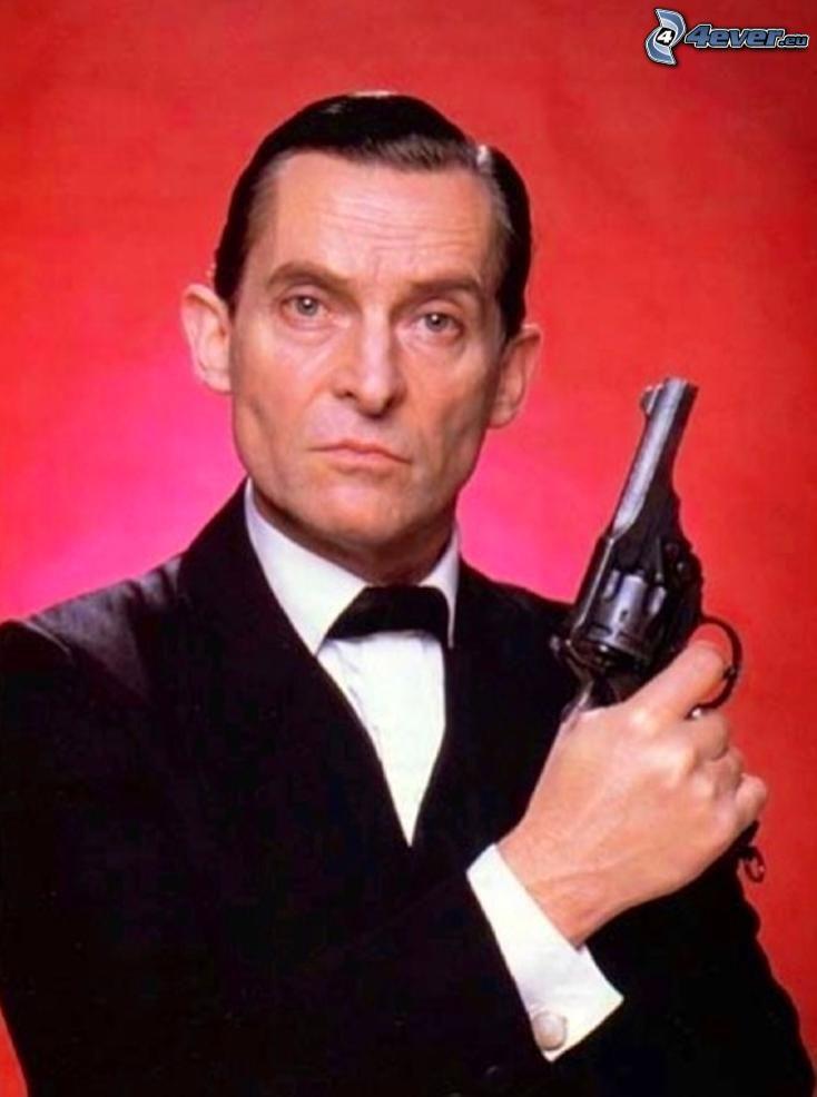 Jeremy Brett, pistol, detective