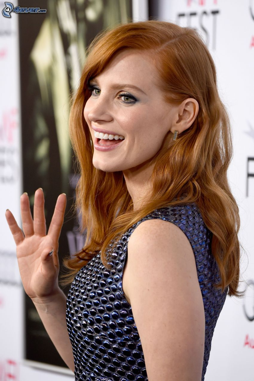 Jessica Chastain, laughter