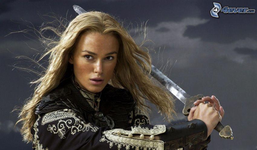 Keira Knightley, sword